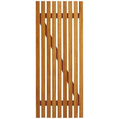 Porte de service sans ferrage bois exotique clairevoie portes for Porte cave bois