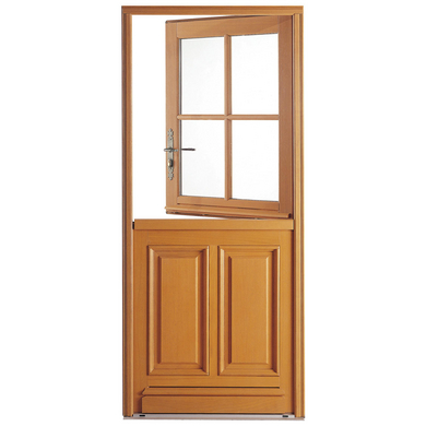 Porte d 39 entr e fermi re iso bois exotique menuis portes - Porte entree lapeyre bois ...