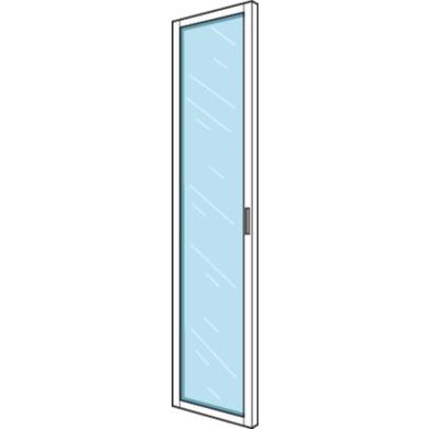 Biblioth que dressing espace porte vitr e h 226 x p 35 50 - Porte de placard vitree ...