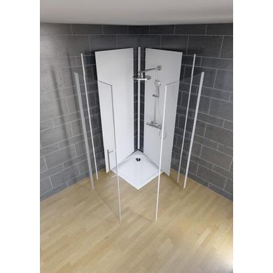 panneau renovation douche gris clair laqu with panneau renovation douche finest il est. Black Bedroom Furniture Sets. Home Design Ideas