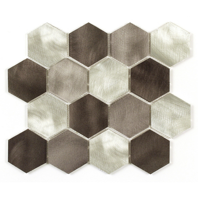 carrelage mosaique rhodium hexagonal 30 x 30 cm sols murs. Black Bedroom Furniture Sets. Home Design Ideas