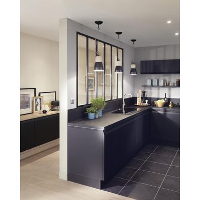 verri re d 39 atelier fixe assembler noire portes. Black Bedroom Furniture Sets. Home Design Ideas