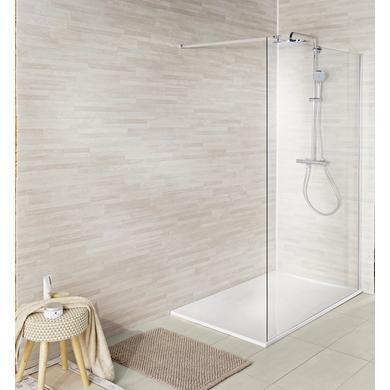 Lambris pvc ever wood ch ne blanchi salle de bains for Lambris pvc salle de bain