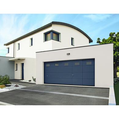 Porte de garage montana sectionnelle pr mont e manuelle ext rieur - Lapeyre porte de garage ...