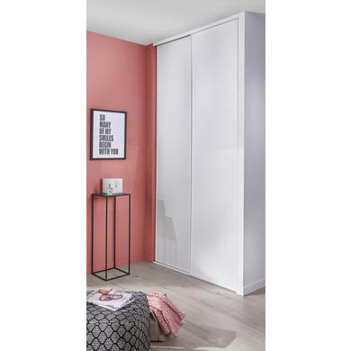 Porte de placard coulissante GLISSEO décor blanc veiné