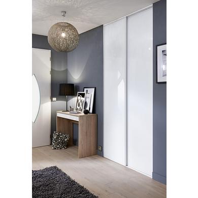Porte de placard coulissante glisseo d cor verre laqu for Porte miroir lapeyre