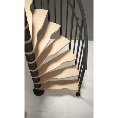 Solution gain de place Spiral 180° - Escaliers