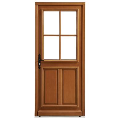 Porte d 39 entr e mirande bois exotique portes - Porte entree lapeyre bois ...