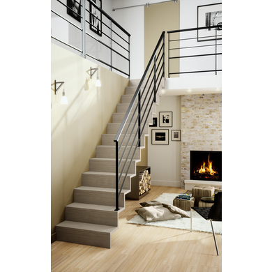 escalier droit jazz escaliers. Black Bedroom Furniture Sets. Home Design Ideas