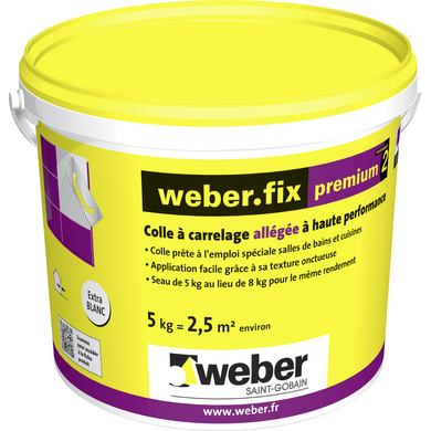 Colle en p te pr mium2 d2 et sols murs for Colle carrelage weber