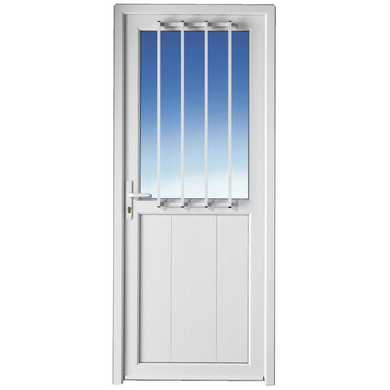 Porte de service ouessant pvc sans grille portes for Porte de service bois lapeyre