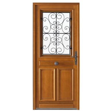 Porte d 39 entr e beaugency bois exotique menuis portes for Porte bois standard