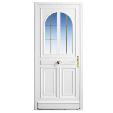 Porte d 39 entr e beauharnais pvc portes for Largeur standard porte d entree