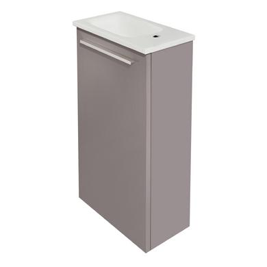 Meuble lave main fokus vasque en verre salle de bains - Meuble lave main bois ...