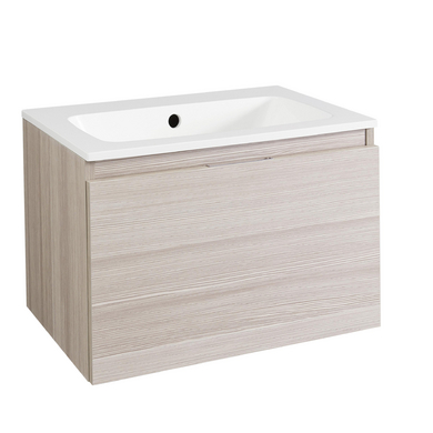 Meuble sous vasque avec plan r sine cm evasion for Meuble sous vasque salle de bain 60 cm