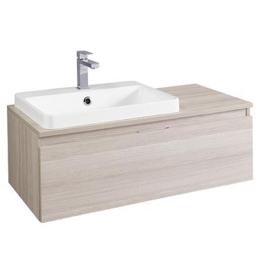 meuble pour vasque semi encastre l 90 cm evasion salle de bains