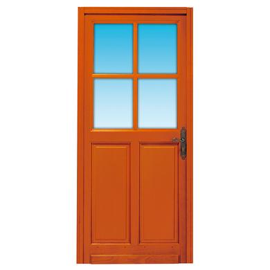 Porte d 39 entr e briare 4 carreaux bois exotique portes for Largeur porte d entree standard