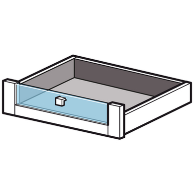 dressing espace tiroir fa ade en verre h 15 5 x p 50 cm. Black Bedroom Furniture Sets. Home Design Ideas
