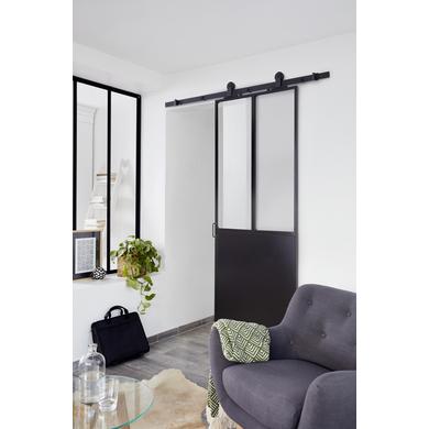 Système Coulissant Harlem En Applique Pour Portes En Bois Portes - Porte placard coulissante et porte intérieure type atelier