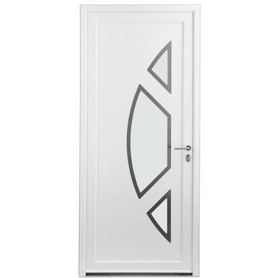 Porte d 39 entr e marennes pvc portes for Largeur porte d entree standard