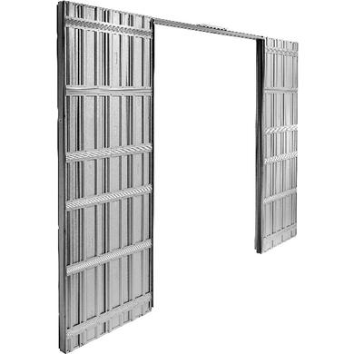 syst me coulissant prestige uno int gr pour 2 portes sans serrure avec poign e chrom e portes. Black Bedroom Furniture Sets. Home Design Ideas