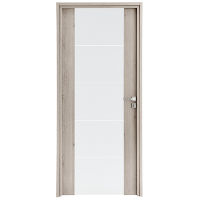 Bloc porte int rieur fin de chantier symponie gris polaire vitr portes - Portes d interieur lapeyre ...