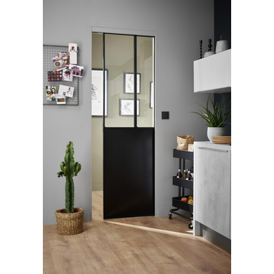 porte coulissante verri re pour syst me en applique ou. Black Bedroom Furniture Sets. Home Design Ideas