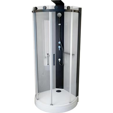 cabine de douche villa hydromassante 1 4 de cercle salle de bains lapeyre. Black Bedroom Furniture Sets. Home Design Ideas