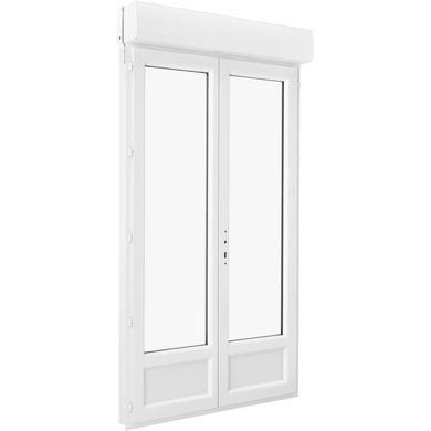 Porte Fenêtre Pria Pvc 2 Vantaux Avec Volet Roulant Intégré à Clé