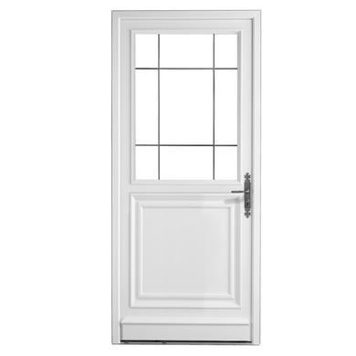 Porte d 39 entr e artigny pvc portes for Largeur standard porte d entree