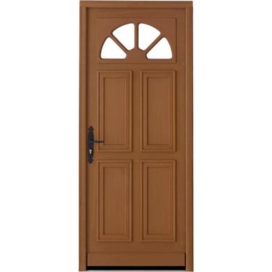 Porte d 39 entr e aumale bois exotique portes lapeyre - Porte d entree bois lapeyre ...