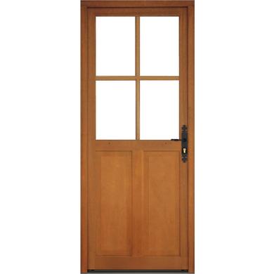 Porte d 39 entr e montoire bois exotique portes for Porte bois standard