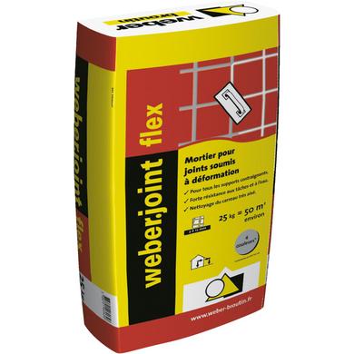 Colle en poudre hautes performances flex c2s1 et for Joint carrelage epoxy weber