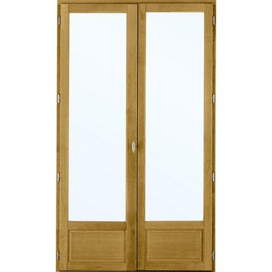 Porte Fenêtre Ode Pin 2 Vantaux à Clé Fenêtres