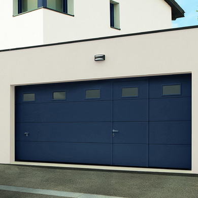 Porte de garage montana sectionnelle avec portillon ext rieur - Lapeyre catalogue portes ...