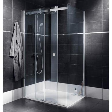 Porte de douche coulissante palace salle de bains - Porte coulissante pour douche de 130 cm ...