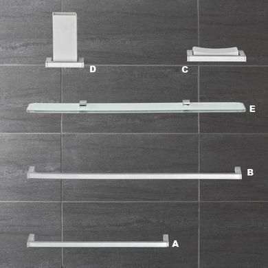 Accessoires de Salle de bains DOMINO - Tablette en verre - Salle de ...