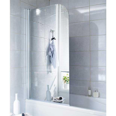 Pare baignoire en verre miroir droite tokyo salle de bains - Miroir loupe salle de bain ...