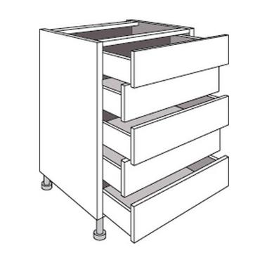 meuble de cuisine bas avec 5 tiroirs twist cuisine