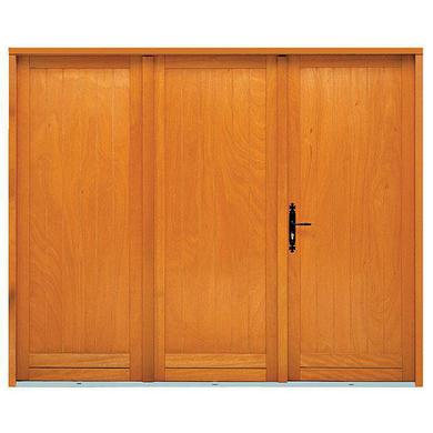 porte de garage 4 vantaux bois exotique