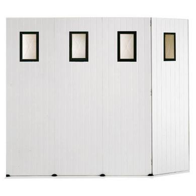 Porte de garage pvc coulissante avec lucarne ext rieur - Hauteur porte de garage standard ...