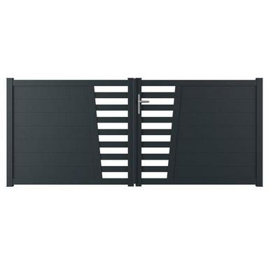 portail battant aluminium pise ajour ext rieur. Black Bedroom Furniture Sets. Home Design Ideas
