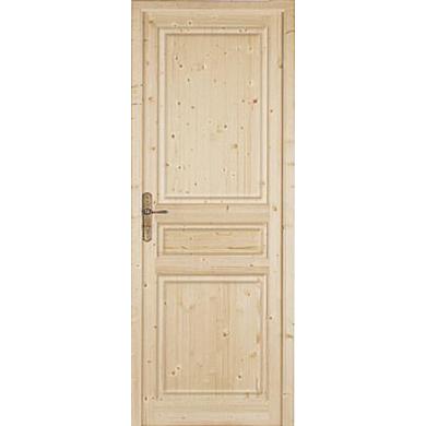Bloc porte classique sapin massif portes for Lapeyre porte exterieure bois