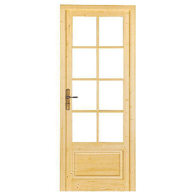 Bloc porte tradition sapin massif vitrer portes for Lapeyre portes interieur