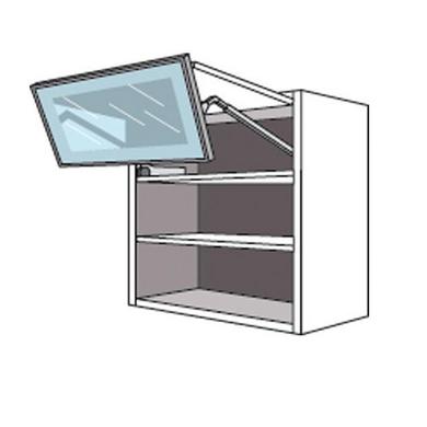 meuble de cuisine haut 2 portes pliantes 1 pleine1 vitre alu twist cuisine