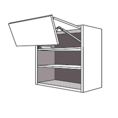 Meuble de cuisine haut 2 portes pliantes pleine origine for Meuble haut porte relevante