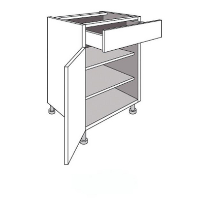 meuble de cuisine bas 1 porte 2 tablettes et 1 tiroir urban cuisine. Black Bedroom Furniture Sets. Home Design Ideas