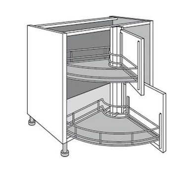 meuble de cuisine d 39 angle bas twister urban cuisine. Black Bedroom Furniture Sets. Home Design Ideas