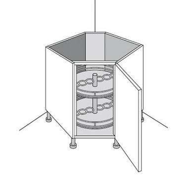 meuble de cuisine bas rangement en coin urban cuisine. Black Bedroom Furniture Sets. Home Design Ideas