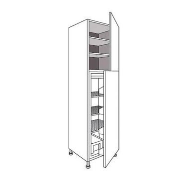 colonne de cuisine r frig rateur avec 2 tablettes urban cuisine. Black Bedroom Furniture Sets. Home Design Ideas